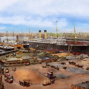 City - New York NY - White Star Line piers 1905 by mikesavad