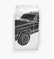 Jeep Cherokee - Black Duvet Cover