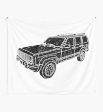 Jeep Cherokee - Black Wall Tapestry