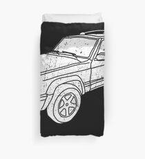 Jeep Cherokee - White Duvet Cover