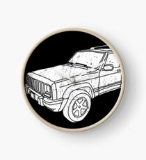 Jeep Cherokee - White Clock