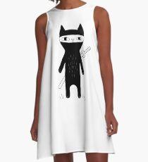 Ninja Cat A-Line Dress