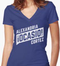Alexandria Ocasio Cortez Women's Fitted V-Neck T-Shirt