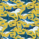 Sharks on Mustard  by TigaTiga