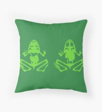 Two Green Frogs Floor Pillow