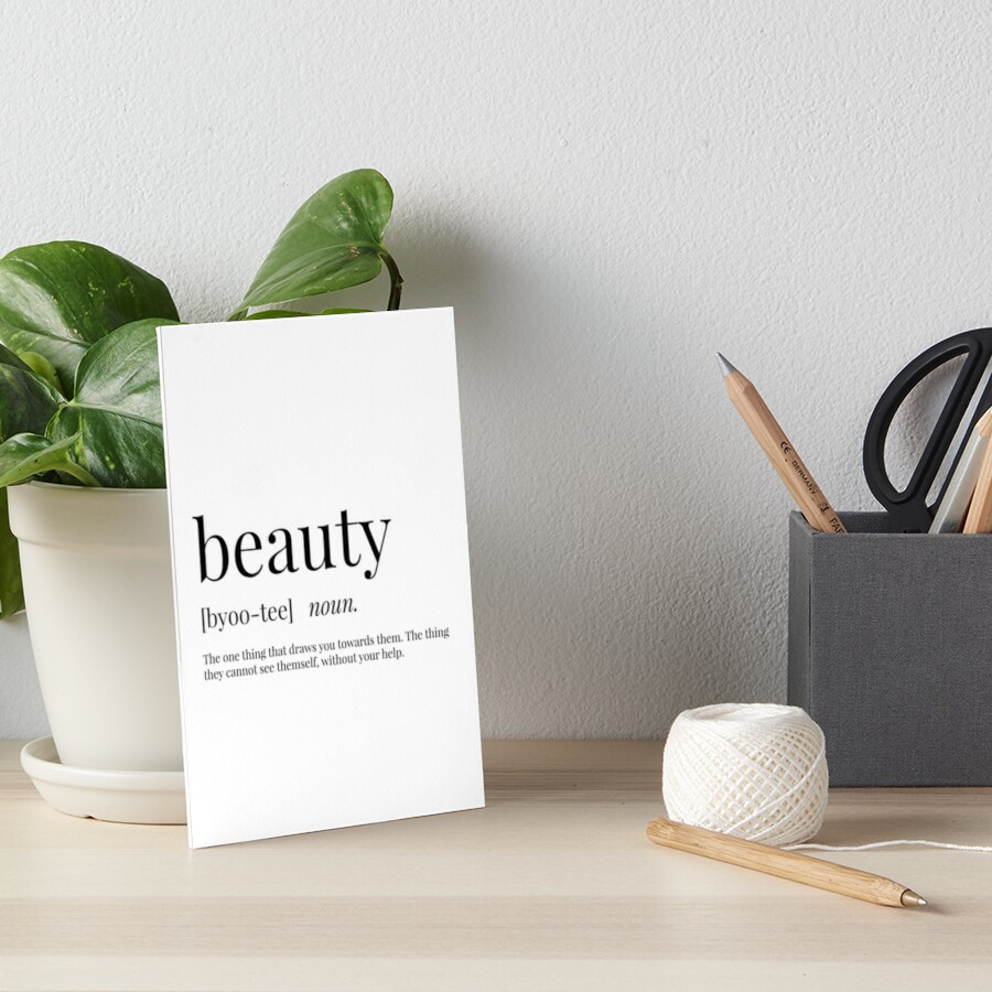 Beauty Definition by definingprints