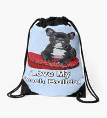 I Love My French Bulldog Drawstring Bag