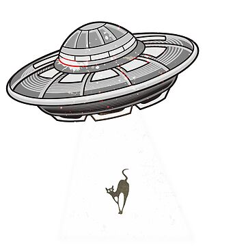 Funny Believer Ufo Space ships Cats T-Shirt I Gift idea by KokoLaroche