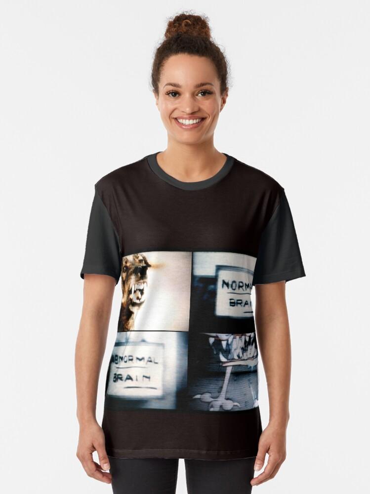Vista alternativa de Camiseta gráfica Normal Brain, Abnormal Brain