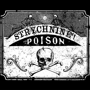 Strychnine Poison - Old Label - Death - Retro by carlosafmarques