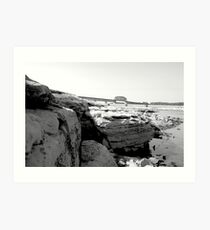 Bed Rock B&W Art Print