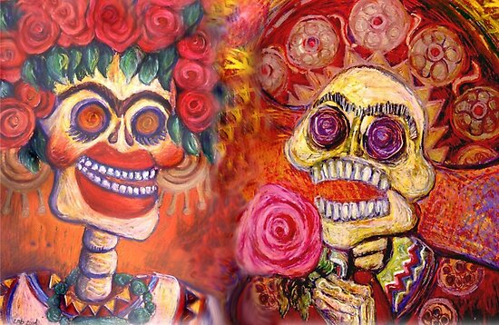 Day of the Dead Calavera Romance by Candace Byington