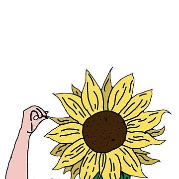 Sunflower Head Japanese by Allison-Daniel