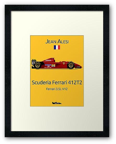 Jean Alesi - Ferrari 412T2 by JageOwen