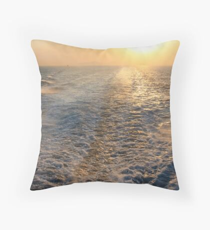 "Sailing into (or is it ""out of"" in this case?) the Sunset Throw Pillow"