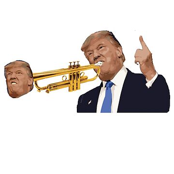 Donald Trump Playing Trumpet Funny t-shirt by Kiraly