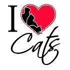 I Love Cats / Ich liebe Katzen by JH-Design