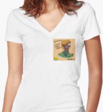 Captain Eugene Lassiter (Pattern) - Space Gazer   Giggle   Official Giggle Merch Women's Fitted V-Neck T-Shirt