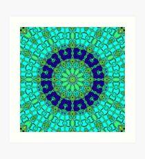 Blue Shell KIng Art Print