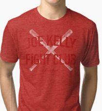 Distressed Red Sox Joe Kelly Fight Club Boston Baseball Fan Tri-blend T-Shirt