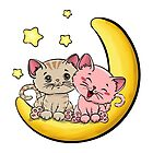 Cats Love on the moon / Katze by JH-Design