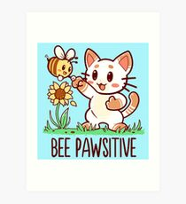 Bee Pawsitive Art Print