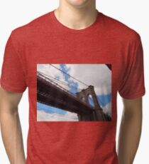 Brooklyn Bridge from DUMBO Tri-blend T-Shirt