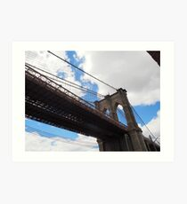 Brooklyn Bridge from DUMBO Art Print