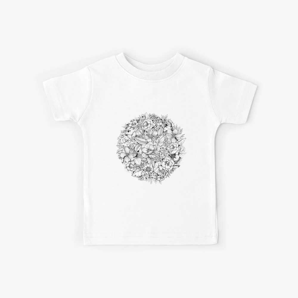 Floral Flower circle  Kids T-Shirt