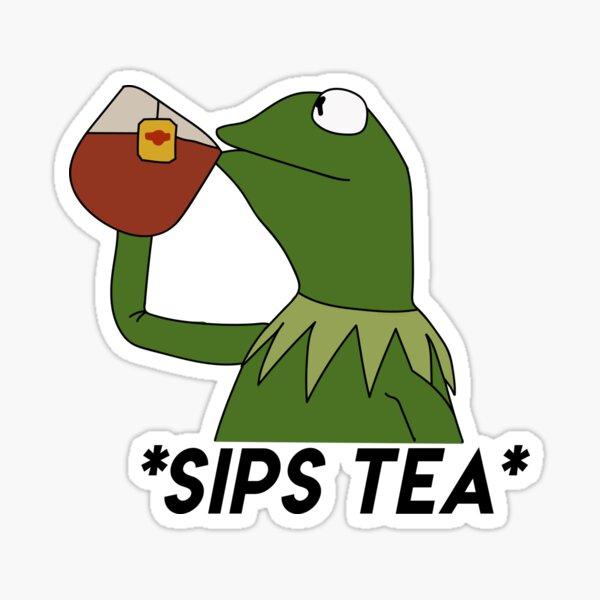 sips tea Sticker