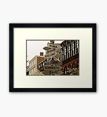 North End Arrows Framed Print