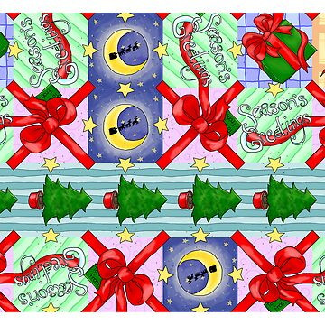 Aperiodic tiling of the plane christmas cards by sqbr