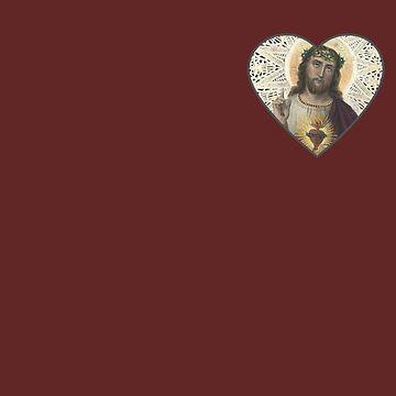Jesus in my Heart by antarctican