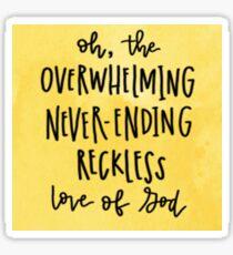 Reckless Love (Yellow) Sticker
