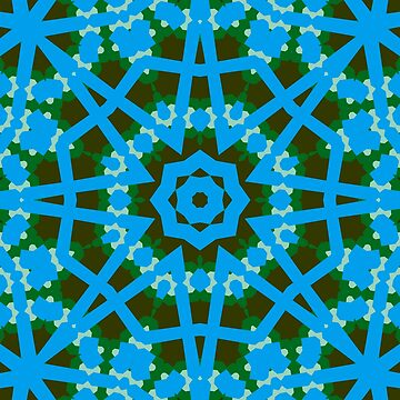 Blue and Green geometric 1 by CircusValley
