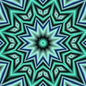 Evie Sofie Soft Blue Green Mandala by CircusValley