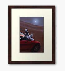 Red Car on the Red Planet Framed Print