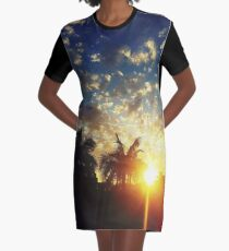 Painted Skies Graphic T-Shirt Dress