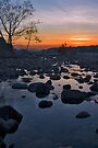 Santa Ana River Sunset by photosbyflood