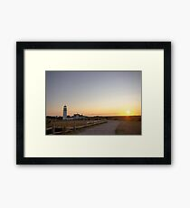 Cape Cod Lighthouse at Sunset Framed Print