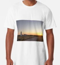 Cape Cod Lighthouse at Sunset Long T-Shirt
