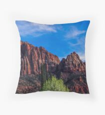Zion National Park - The Altar of Sacrifice Throw Pillow