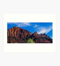 Zion National Park - The Altar of Sacrifice Art Print