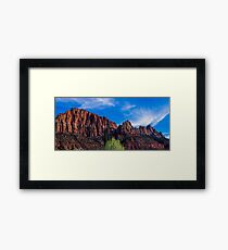Zion National Park - The Altar of Sacrifice Framed Print