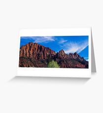 Zion National Park - The Altar of Sacrifice Greeting Card
