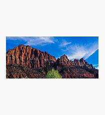 Zion National Park - The Altar of Sacrifice Photographic Print