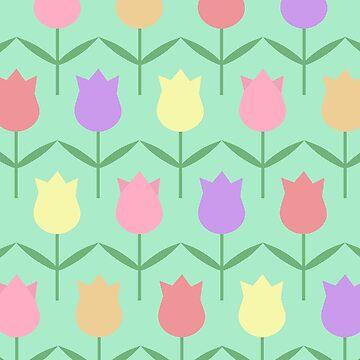 Tulip Field Pattern by valleone
