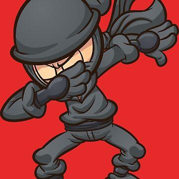 Dabbing ninja by memoangeles