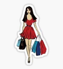 queen is on a shopping tour Sticker