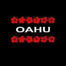 Oahu Red Flower Bands Color Dark by TinyStarAmerica